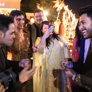 Marom at VIP wedding in India